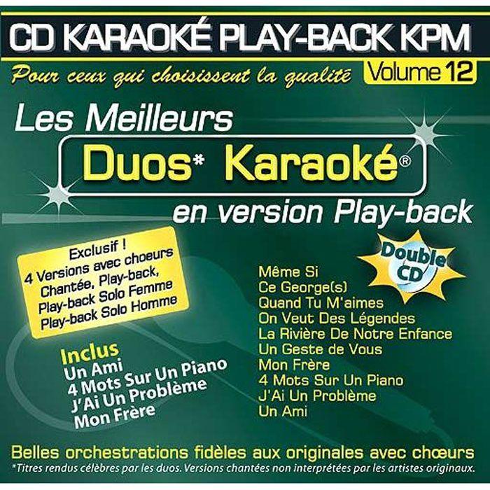 CD Karaoké Play-Back KPM Vol.12 -Karaoké Duos- (d…