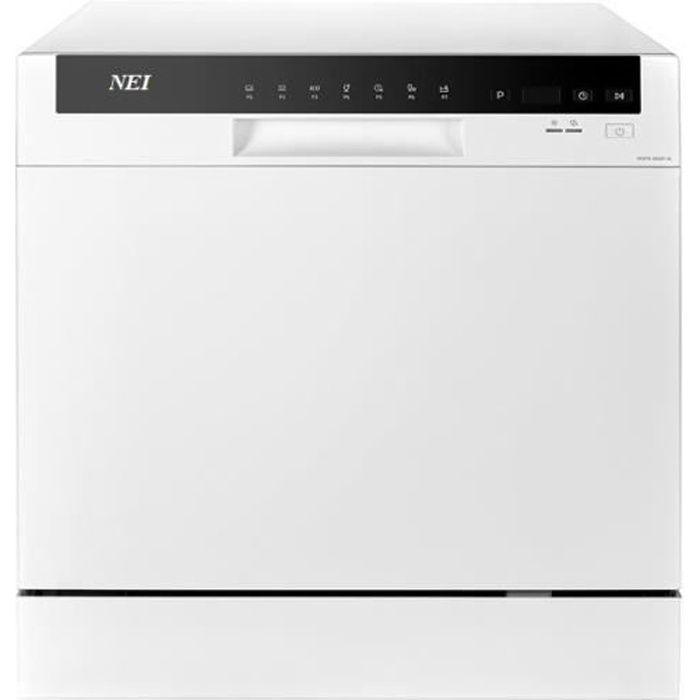Lave-vaisselle compact NEI NDW8S-3802FW, A+, 8 sets, 7 programmes, 55 cm, argent
