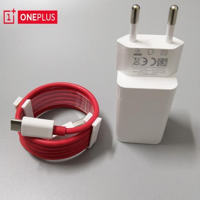 Pour Oneplus 7t Dash chargeur câble Usb type c câble rapide rouge Charge puissance données tableau de - Type EU Charger abd Cable