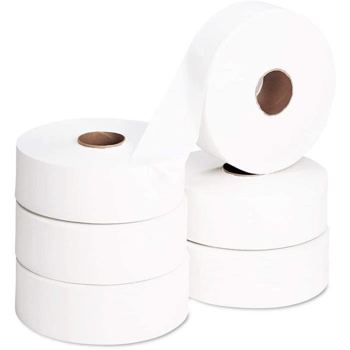 6 Rouleaux Papier Toilettes Maxi Jumbo - ECOLABEL - 2 Plis - 320m