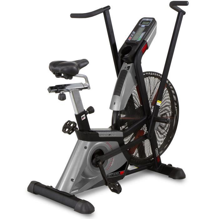BH Fitness Vélo d'appartement CROSS 1100 H8750 - Systéme inertiel à Aire - Guidon mobile pour entrainer jambes et bras - Semipro