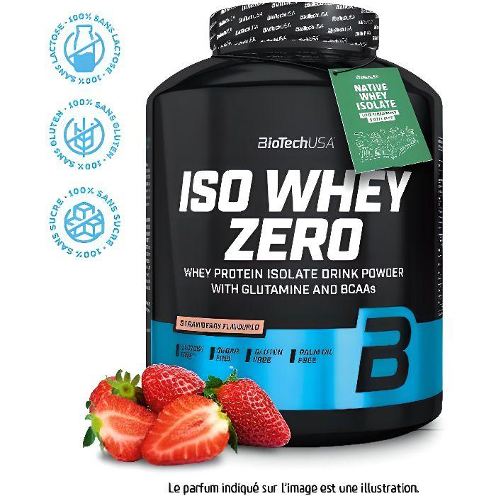 Biotech USA Iso Whey Zero Fraise 2.27 kg