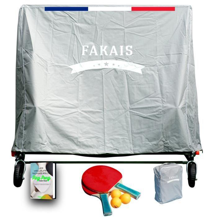 Housse table de ping pong extérieur, solide et résistante aux UV, pluie, vent et neige