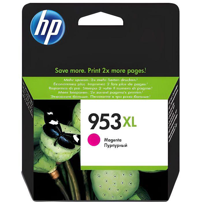 HP 953XL cartouche d'encre magenta grande capacité authentique pour HP OfficeJet Pro 8710/8715/8720 (F6U17AE)