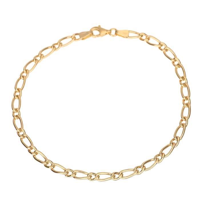 Les Bijoux d'Emma - Bracelet en Maille Alternée - OR 9CT