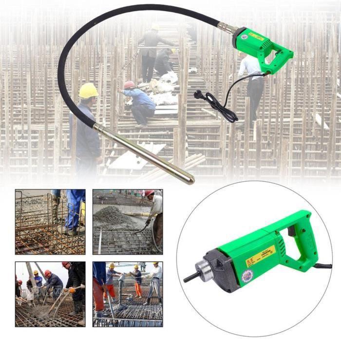 Agitateur à béton 2m vibrateur concret moteur durable dispositif vibrant machine vibrante portable 230V outils de construction
