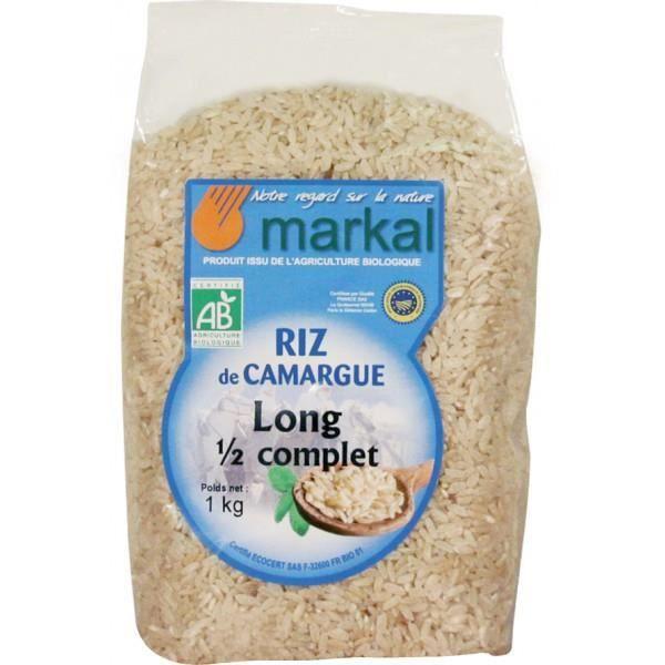 Riz long demi,complet Camargue, 1kg, Markal
