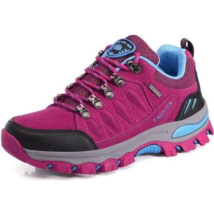 Chaussures de Randonnée Femme Sneakers Confortable Outdoor Belles Filles Rose