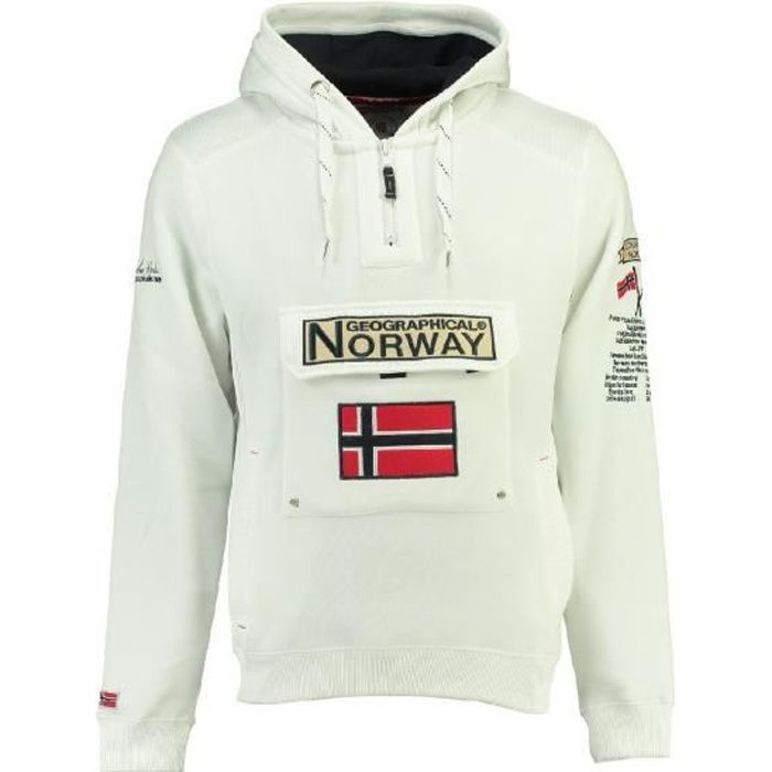 Sweat Homme Geographical Norway Gymclass New B Blanc