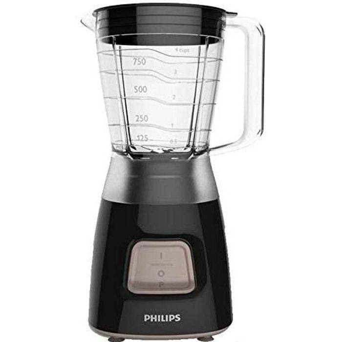 Philips HR2052-90 Blender Daily Basic Noir 450W 1,2L Bol Plastique 1 Vitesse HR2052-90