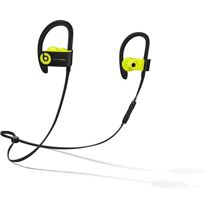 Écouteurs Powerbeats3 sans Fil haute performance Bluetooth Sport Casque - Jaune