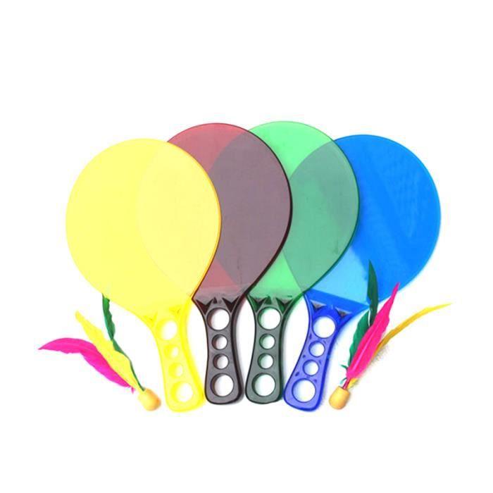 1 paire de planche en plastique créative en léger petites raquettes durables raquette de Badminton pour adolescent adultes