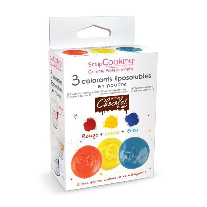 3 colorants liposolubles - spécial chocolat bla...