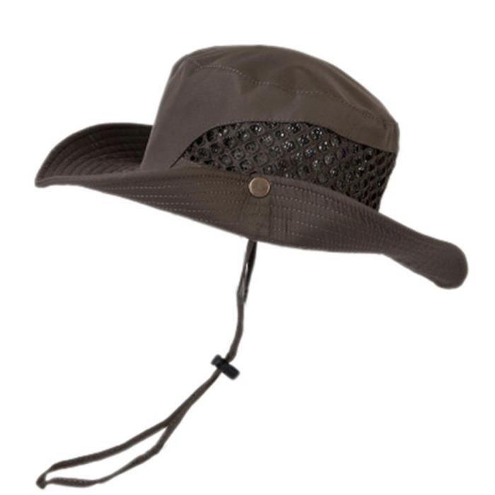 Unisex Chapeau de Soleil Visière Anti-UV Casquette à Protection Solaire Capuchons de Chasse Camping Pêche Randonnée Cyclisme Ca1131#