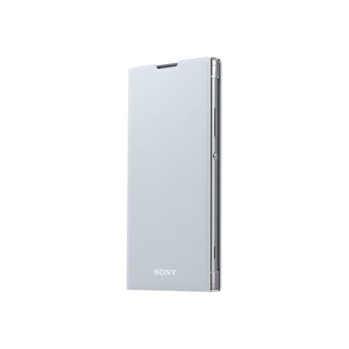 Sony Style Cover Stand SCSH10 Protection à rabat pour téléphone portable polycarbonate, cuir polyuréthane argenté(e)