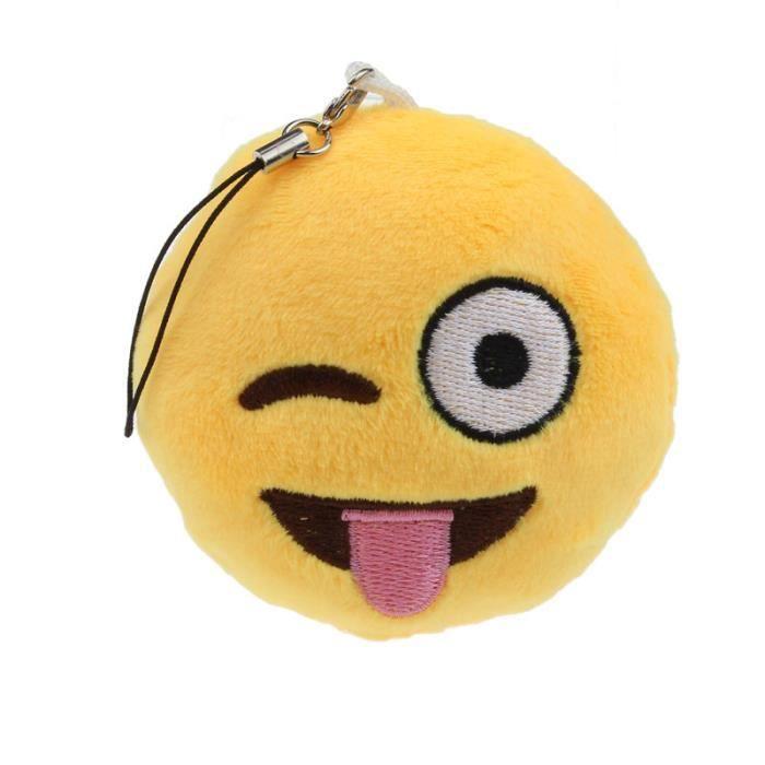 OREILLER Yeux Coeur Emoji émoticônes Porte-clés doux jouet