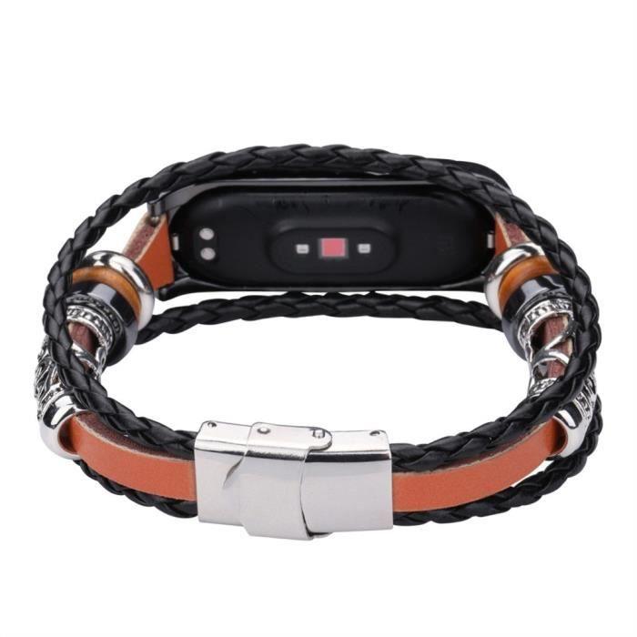 mi band 4 bracelet cuir