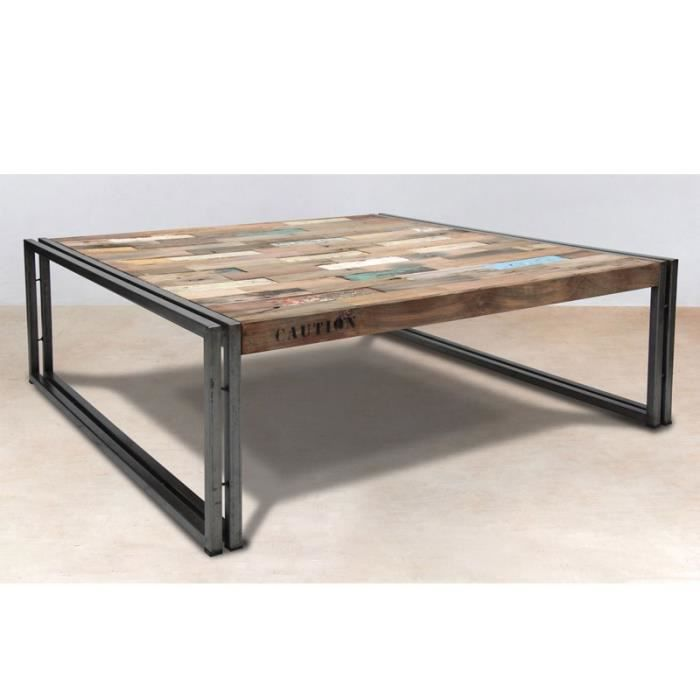 table basse en bois 100 cm industry achat vente table basse table basse en bois 100 cm. Black Bedroom Furniture Sets. Home Design Ideas