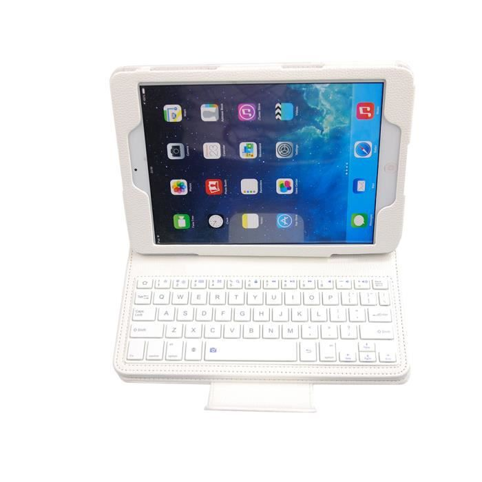 mokiwi etui bluetooth clavier samsung tab a 9 7 p550 avec support blanc achat vente. Black Bedroom Furniture Sets. Home Design Ideas