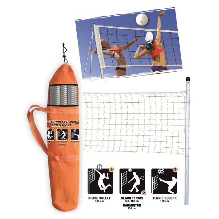 Filet r glable de volley badmin achat vente jouet - Filet volley piscine ...