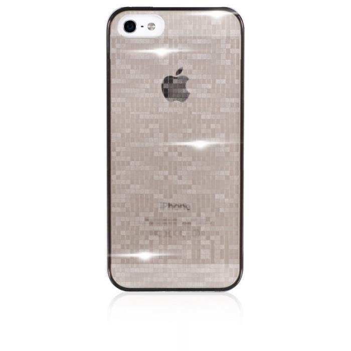 coque iphone 5 5s grise warm avec swarovski par