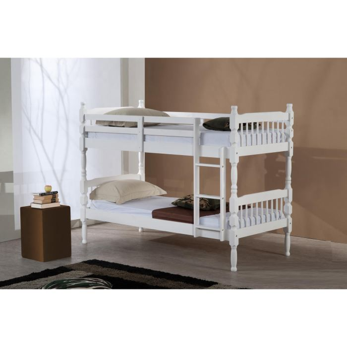 lits superpos s en bois amana blanc achat vente. Black Bedroom Furniture Sets. Home Design Ideas