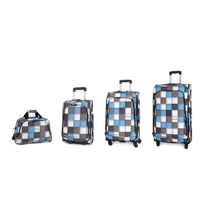 bagage david jones lot de 4 valise tissu carreau achat vente set de valises bagage david. Black Bedroom Furniture Sets. Home Design Ideas