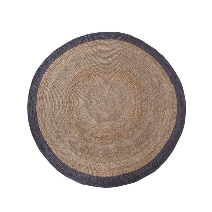 tapis rond en chanvre 200 cm ermelo couleur naturel achat vente tapis cdiscount. Black Bedroom Furniture Sets. Home Design Ideas