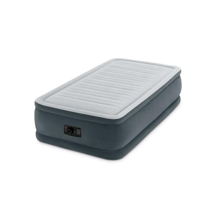 Intex Matelas Gonflable 99x191 Technologie Fiber Tech 46 Cm Comfort Plush