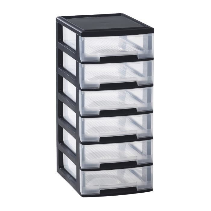 allibert tour de rangement 6 tiroirs 6x5 l achat vente etabli meuble atelier plastique. Black Bedroom Furniture Sets. Home Design Ideas