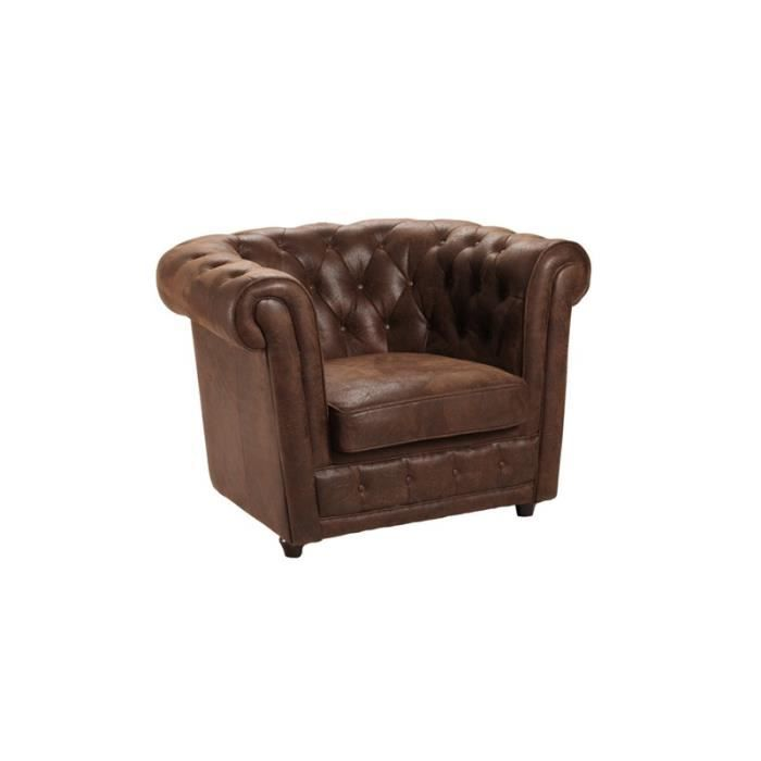 fauteuil chesterfield microfibre vintage achat vente. Black Bedroom Furniture Sets. Home Design Ideas