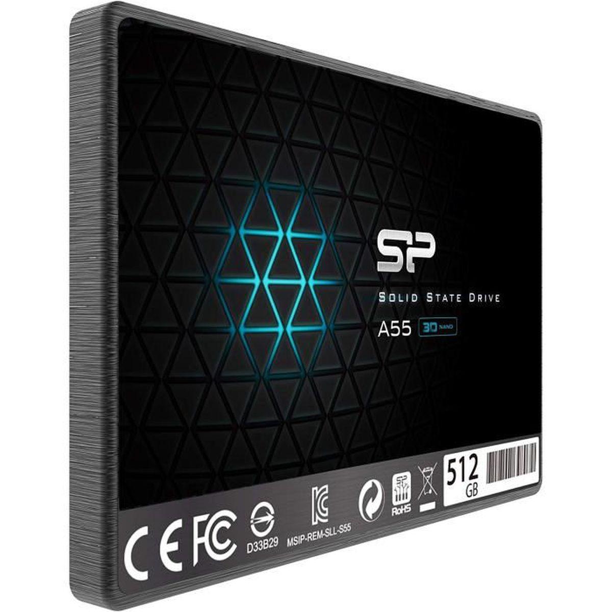 DISQUE DUR SSD SILICON POWER Ace A55 Disque SSD 512 Go interne 2.