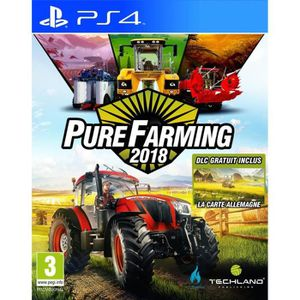 JEU PS4 Pure Farming 2018 Day 1 Edition Jeu PS4