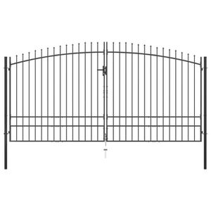 PORTAIL - PORTILLON VAGUE- Double portail avec haut sous forme de lanc