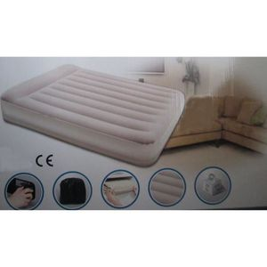 LIT GONFLABLE - AIRBED MATELAS 2 PERSONNES CAMPING MAISON GONFLABLE