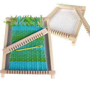 RÉSINE CRÉATIVE Métier à tisser bois avec fuseaux - 6 pelotes lain