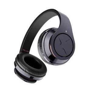 CASQUE - ÉCOUTEURS OVLENG Pliable stéréo Bluetooth casque avec micro