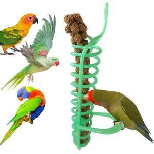 MANGEOIRE - TRÉMIE Portable suspendu spirale mangeoire oiseaux perroq