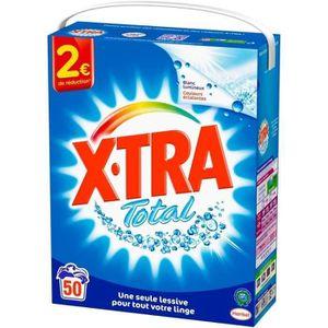 LESSIVE XTRA Lessives en poudre Total - 50 lavages - Lot d