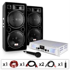 AMPLIFICATEUR HIFI Set DJ PA Sono Karaoké Enceintes Ampli Micro 2000W
