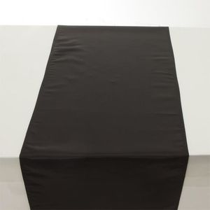 chemin de table satin noir achat vente chemin de table. Black Bedroom Furniture Sets. Home Design Ideas