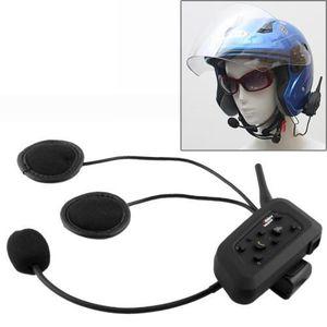 INTERCOM MOTO Kit Interphone casque moto 1000m (maxi 6 personnes