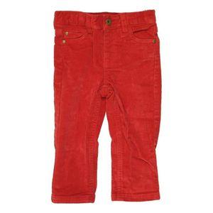 PANTALON Pantalon bébé garçon BOUT'CHOU 12 mois rouge hiver