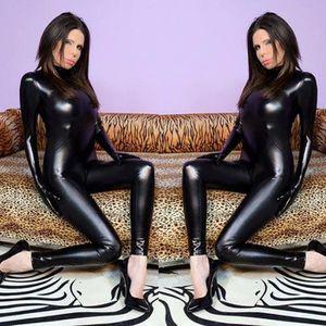 COLLANT Taille 5XL Sexy Femmes Combinaison Noir Faux Cuir