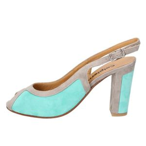 SANDALE - NU-PIEDS CALPIERRE Chaussures Femme Sandale daim Azure BZ79
