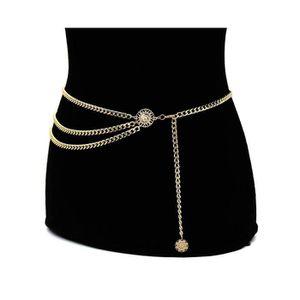 CEINTURE ET BOUCLE Boucle De Ceinture W1F2T Fashion Robe chaîne mince