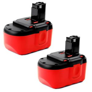 BATTERIE MACHINE OUTIL 2x Batterie 24V, 3Ah, NiMH pour Bosch GLI 24 V / G