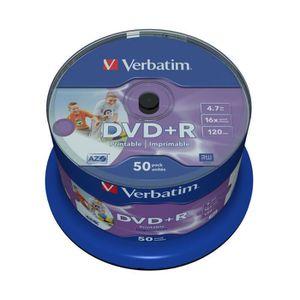 CD - DVD VIERGE Verbatim - 50 x DVD+R  imprimable