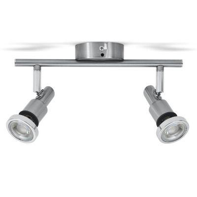 B.K.Licht plafonnier LED / luminaire salle de bain Aurel 2 • 2 spots •  protégé contre les projections d\'eau • orientable &