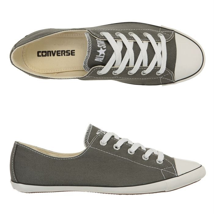 converse baskets all star light ox femme femme gris achat vente converse all star light ox. Black Bedroom Furniture Sets. Home Design Ideas